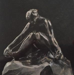 Rodin zittende baadster